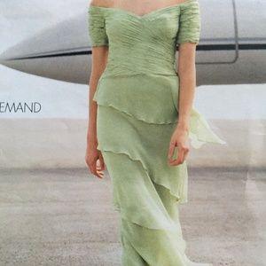 2pc mint green gown sz2